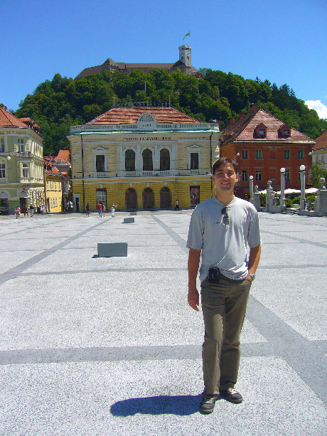 Ljubljanában Csabi a várral